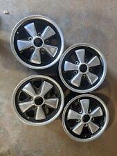 14x55 Porsche Fuchs Wheel Set Of 4 Oem Fuch 901 911e 911 912 914 6 Original