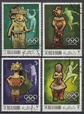 Ras al Khaima 1968 used Mi.259/62 A Olympische Spiele Olympic Games Mexiko