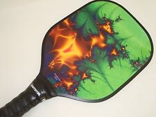 SUPER PICKLEBALL PADDLE WIDEBODY PICKLEBALL GOLD GREEN FRACTAL W400