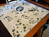 """Snowfield Play mat / GripMat 48"""" x 48"""" Perfect for Star Wars X-Wing or Armada"""