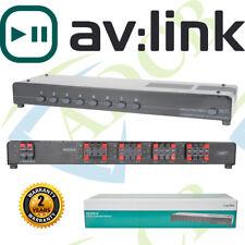 AV:LINK AUDIO 8 WAY Loud SPEAKER Splitter SWITCH Selector Multi Room Stereo