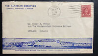 1944 Sarnia Canada Advertising Canadian Observer Cover To Welland