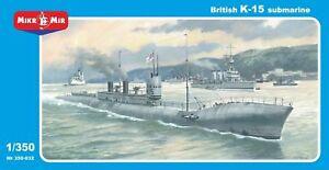 Mikro-mir 350-032  - 1/350 British Hms K-15 Submarine Late Version, scale model