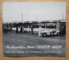 Frazer NASH concurrence modèle ORIG 1950 euro MKT brochure-Bristol BMW Intrest