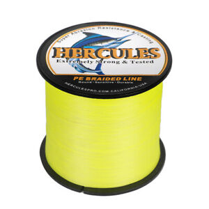 Fluorescent Yellow Green Spectra PE Super 100/300/500/1000M Braid Fishing Line