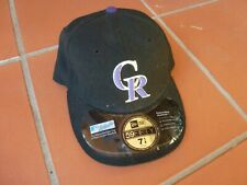 COLORADO ROCKIES BASEBALL CAP AUNTHENTIC MLB 59FIFTY 71/4 NEVER WORN