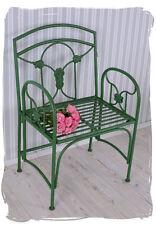 Chaise De Jardin Shabby Chic Chaise En Fer Vintage Art Nouveau Fauteuil Vert