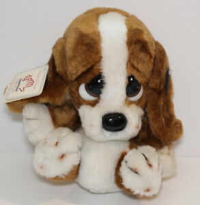 """Applause Sad Sam  Plush Brown Bassett Dog non-speaking Puppy tags attached 12"""""""