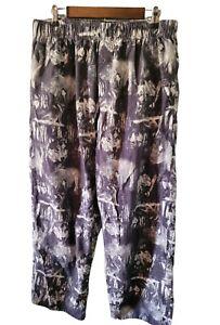 Vintage Fruit Of The Loom Men's Large Flannel Sleep Pants Wolf Wolves FLAW