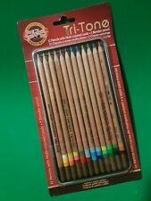 Koh-I-Noor Tri-Tone 12 Ct. Colored Pencils Set~Brand New~BiD@$1~Stockin Stuffers