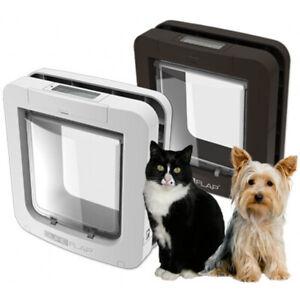 SureFlap MICROCHIP Pet Door for Cats & Dogs. WHITE Pet Door -LARGE SIZE