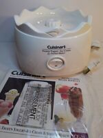 Cuisinart White BASE MOTOR Frozen Yogurt Ice Cream Sorbet Maker ICE-20 Tested