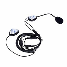 Half Helmet Motorcycle Face Headset Headphone For Ham Radio Walkie Talkie 2 Pin
