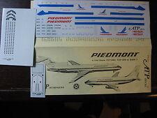 1/144 ATP DECALS 727-200 737-200  DASH 7 PIEDMONT DECALCOMANIE