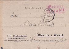 Germany 1947 Postcard Fee Payable used VGC
