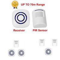 Wireless Sensor Doorbell Door Chime Receiver+ PIR Motion Detector Security Alarm