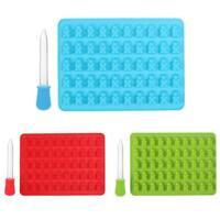 50 Cavity Gummy Bears Hard Candy Silicone Soap Ice Cube Tray Baking Mold