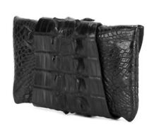 ** Balmain** Rare Exotic Leathers Crocodile Clutch Bag