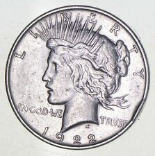 Early - 1922-D - Peace Silver Dollar - 90% US Coin *755