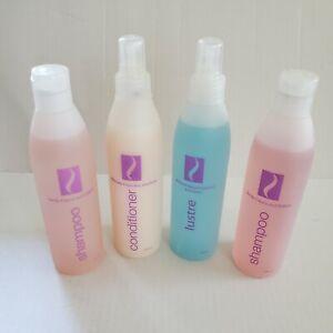 Lot of 4 SCC Salon Silhouettes Wig Care Shampoo, Conditioner, Lustre 8 FL. oz.