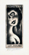 FINGESTEN Michel, Ex libris Lys Odilon, signed, Deeken n. 499, Rare