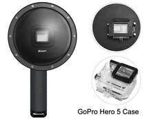 SHOOT Dome Port Underwater Diving Lens Housing Case Handgrip for GoPro Hero 5 6