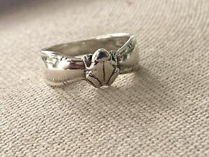Vintage 925 Sterling Silver Frog Ring Size 5.5
