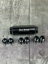 Racing Inline Aluminum Oil Fuel Filter An6 An8 Fitting With 50 Micron Filter Nos