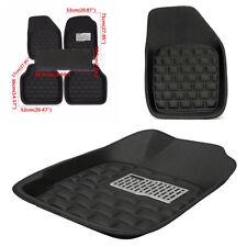 5Pcs Black Safe Waterproof Car Floor Mats Skidproof Car-styling for 5 seats Car