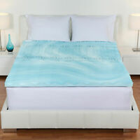 "Cool Gel Memory Foam Mattress Topper 5 Zones Orthopedic Pad 3"" Inch Queen Size"