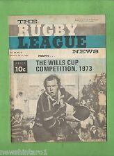 #QQ. THE RUGBY LEAGUE NEWS, 9-11th March 1973, Parramatta cover
