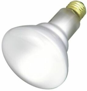 Satco S3408 - 65 watt BR30 Incandescent Bulb, Frost, Medium Base
