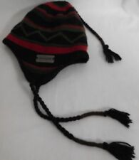 CHAOS WINTER KNIT CLASSIC SKI CAP RED BLACK AND GREEN DESIGN EAR PROTECTOR