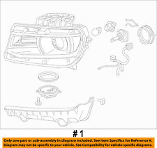 Chevrolet GM OEM 14-15 Camaro-Headlight Assembly Right 23398036