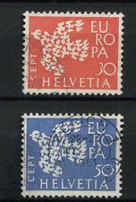 Svizzera 1961 SG # 653-4 Europa usati Set #A 69992