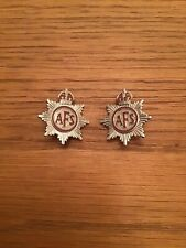 A.F.S Auxillary Fire Service Badges