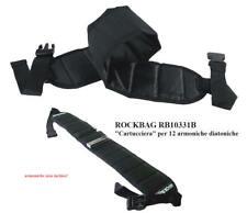 Rockbag Rb10331b cartucciera Custodia Cintura per 12 Armoniche diatoniche