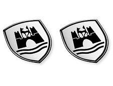 VW Volkswagen New Genuine Wolfsburg Crest Decals 5C0064317ASXRW VW styling Badge