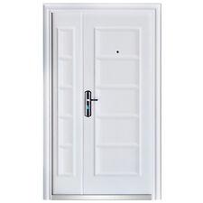 porte d'entrée porte porte d'entrée porte de sécurité 120x205 blanc DIN gauche