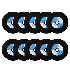 10pcs CD-R 52x 80min 700MB Black Surface Bottom Blank Music Vinyl Disc Sleeve
