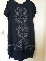 White Stuff Oversized Langenlook Embroidered Tunic Dress Size 12