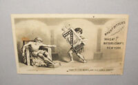 Old Antique Vtg Ca late 1800's Wheat Bitters Advertising Trade Card Very Nice