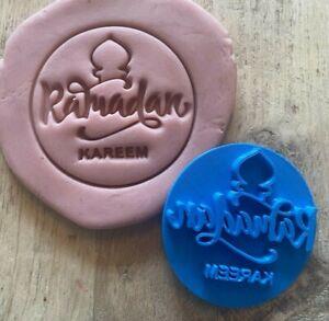 Ramadan Kareem embosser stamp with circle cookie cutter