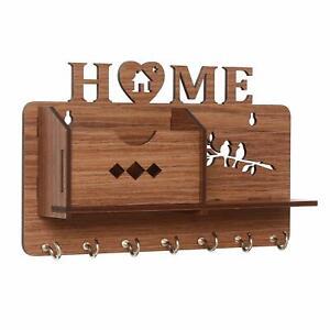 Schöner Designer Heim Seite Shelf-Brown Wand Regale Holz Regal, Schlüsselhalter