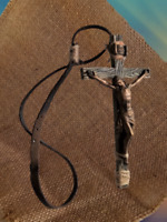 Vintage Christian Our Lord Jesus Christ On The Cross INRI Crucifix