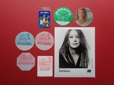 TORI AMOS,B/W Promo Photo,7 Backstage passes,Tour Originals