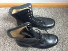 Vintage ADDISON 7-66 Black Leather U.S. MILITARY Men's Jump Combat Boot 13 R