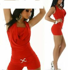 SeXy GoGo Shorty Clubbing Hotpant Overall Catsuit rot Freesize 34/36/38 TOP NEU