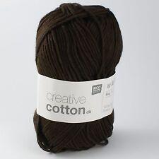 Rico Creative Cotton DK - 100% Cotton Knitting & Crochet Yarn - Dark Brown 018