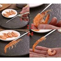 Edelstahl Garnelen Schäler Shrimp Peel Gerät Kreative Küche Werkzeug L8I5 H B9N7